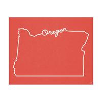 Oregon Script Red