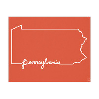 Pennsylvania Script Red