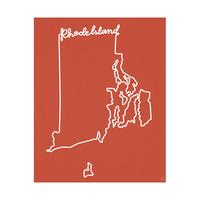 Rhode Island Script Red