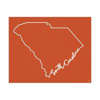 South Carolina Script Red