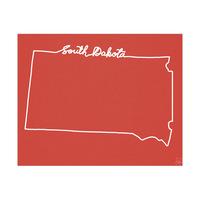 South Dakota Script Red