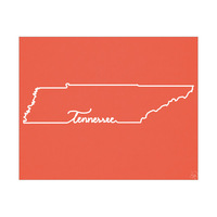 Tennessee Script Red