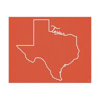 Texas Script Red