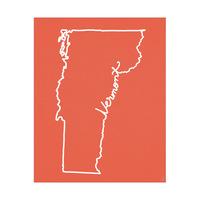 Vermont Script Red