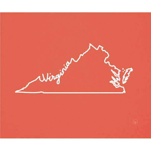 Virginia Script Red