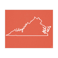 Virginia Script Red
