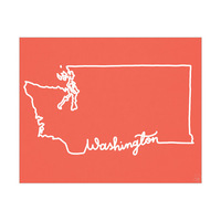 Washington Script Red
