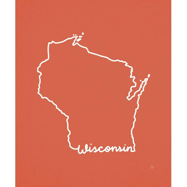 Wisconsin Script Red