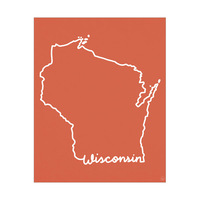 Wisconsin Script Red