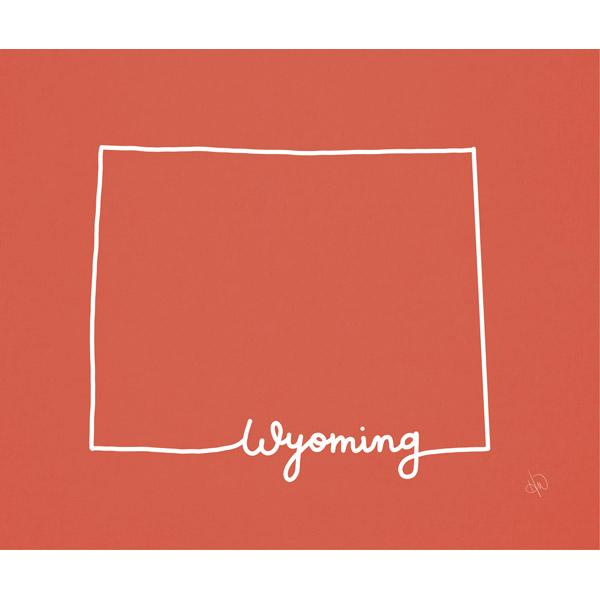 Wyoming Script Red