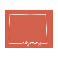 Wyoming Script Red