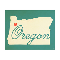 Oregon Heart Aqua