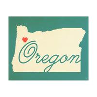Oregon Heart Aqua