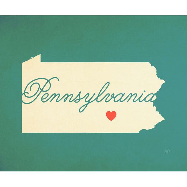 Pennsylvania Heart Aqua
