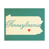 Pennsylvania Heart Aqua