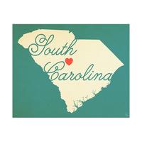 South Carolina Heart Aqua