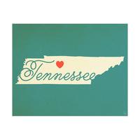 Tennessee Heart Aqua