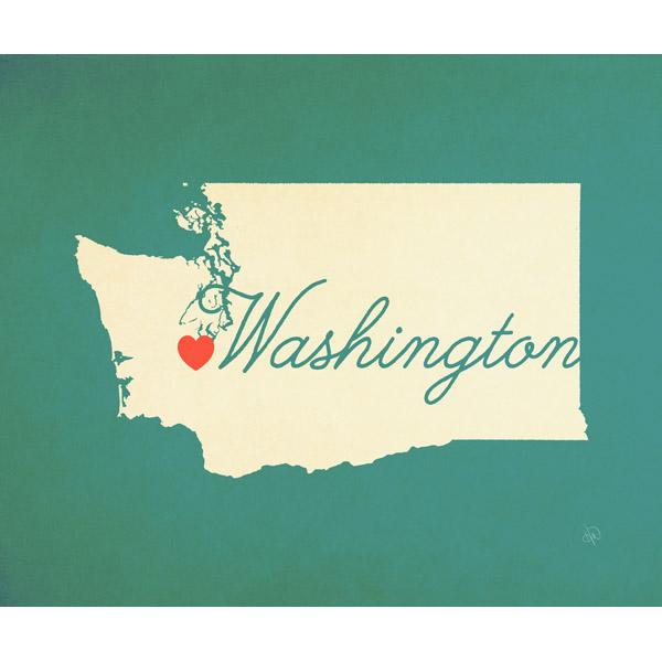 Washington Heart Aqua