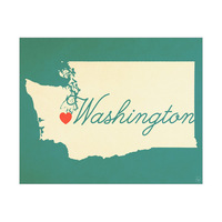 Washington Heart Aqua