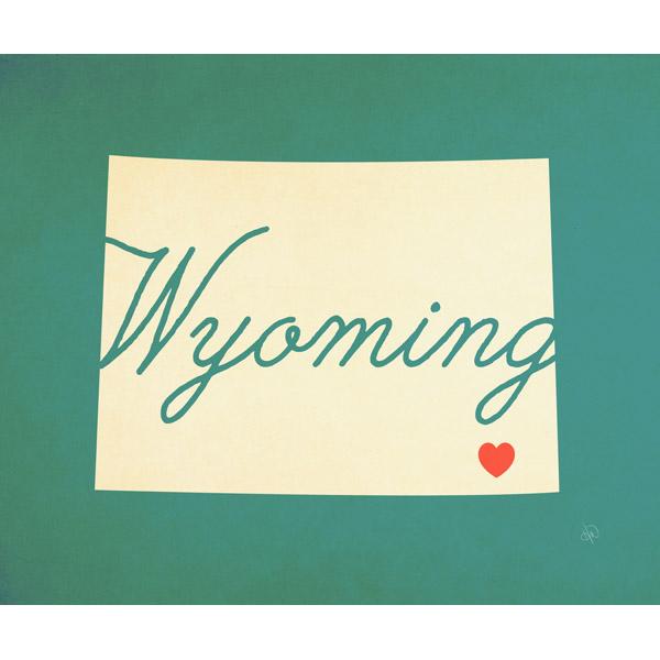 Wyoming Heart Aqua