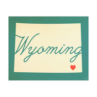 Wyoming Heart Aqua