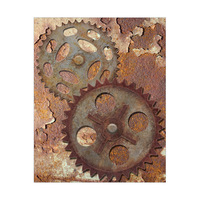 Double Gear Brown Rust