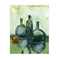 Green Bottle Reflections