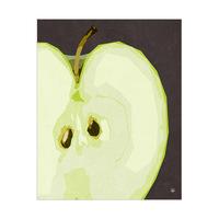 Close Green Apple Black