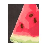 Close Watermelon Black