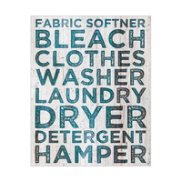 Laundry Typography in Teal