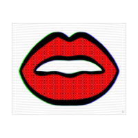 Analog Lips Red