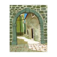Old Village Stone Gate