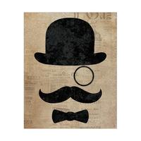 Dapper Mustache Brown