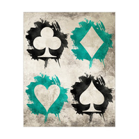 Grungy Cards Teal