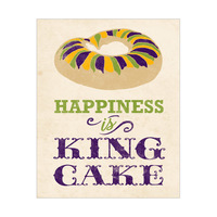 Happiness is King Cake