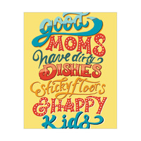 Good Moms and Happy Kids - Yellow