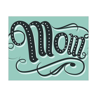 Green Mom Typography