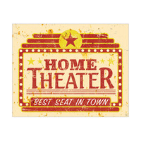 Home Theater Best Seats in Town Red and Yellow