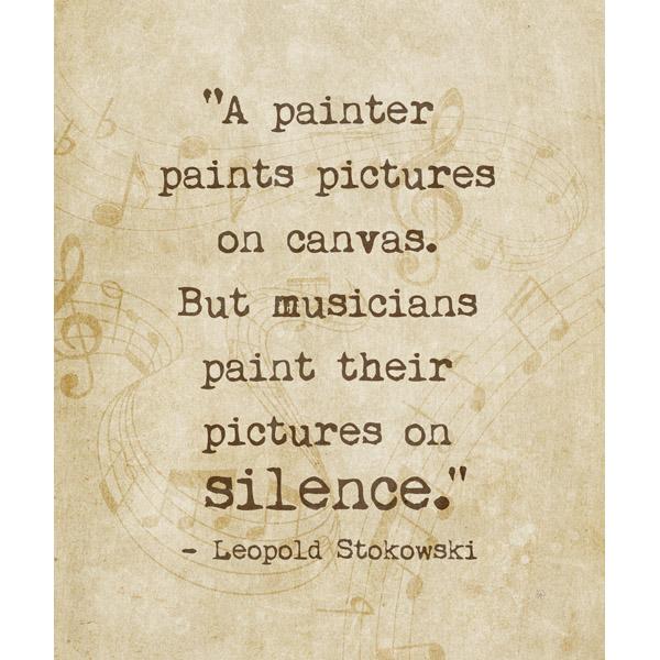 Paint on Silence - Sepia