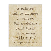 Paint on Silence - Sepia