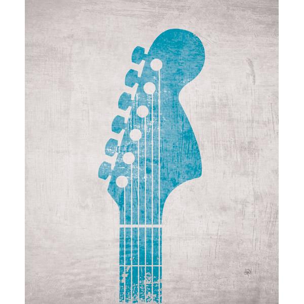 Fender Strat 70's Head in Blue