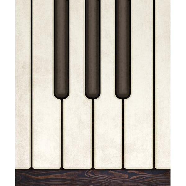 Piano Keys on Wood