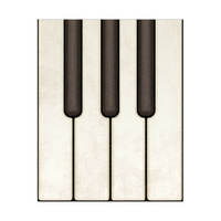 Piano Keys on Wood