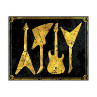 Gold Guitar Silhouettes