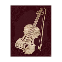 Sheet Music Violin Red