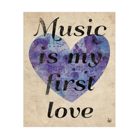 Music is my First Love Purple