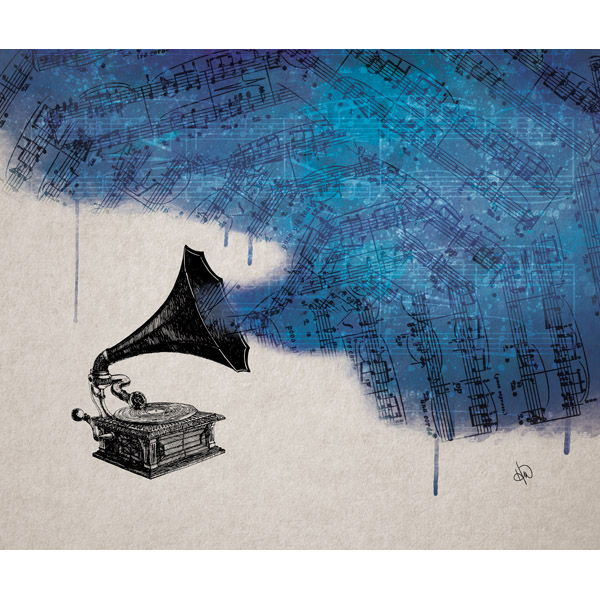 Music Pollution Blue