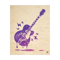 Melting Guitar Purple