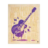 Melting Guitar Font Purple