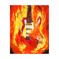 Flaming Guitar Alpha